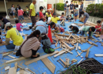江古田地区まつり2015こどもまつり木工作